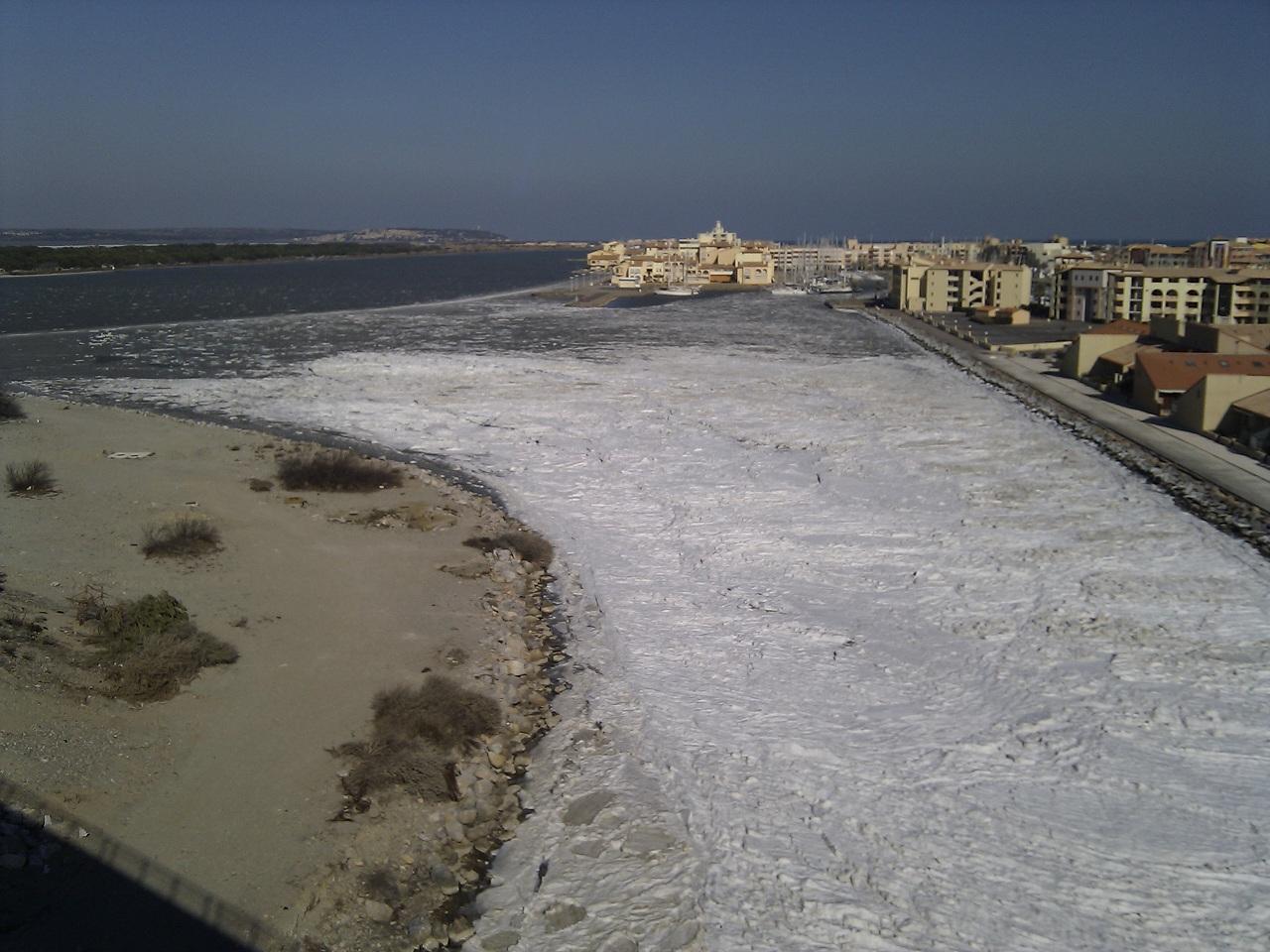 Le port sous la glace - Residence la grande bleue port leucate ...
